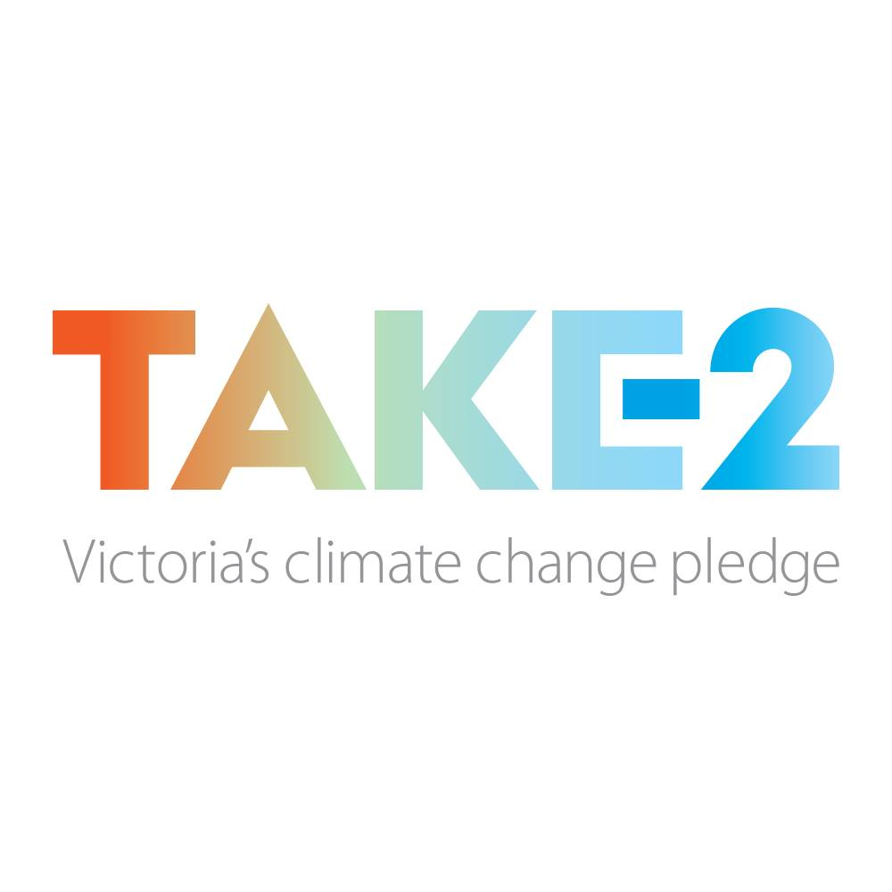 TAKE2 Victoria's climate change pledge logo